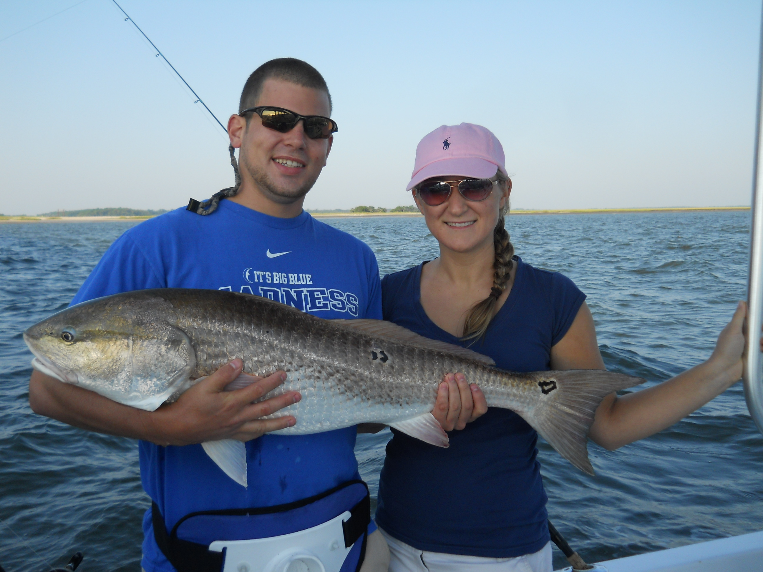 Bull redfish fishing charters in hilton head island south for Hilton head surf fishing