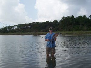 sight casting for tailing redfish