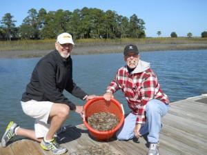 basket of shrimp