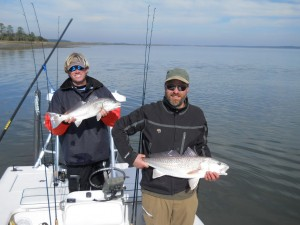 sight fishing for winter redfish