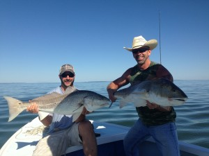 Pair if big redfish