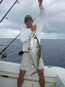 Blackfin Tuna on Bait Ball - Offshore Sight Fishing